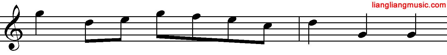 包含跳进的单音乐句