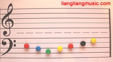 带磁性的五线谱板